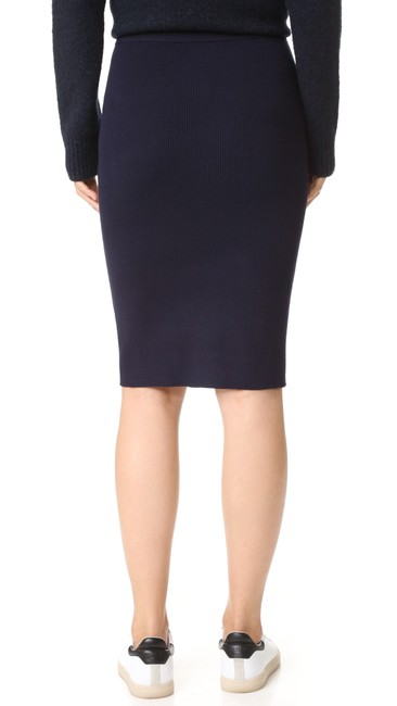 DKNY Patchwork Skirt Navy Blue Image 6