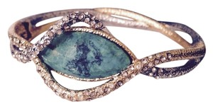 Alexis Bittar Faceted Chrysocolla & Crystal Encrusted Hinge Bracelet
