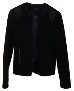 Ann Taylor Faux Leather Black Blazer