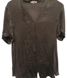 Helmut Lang Blouse Work Designer Chic Office Smart Button Down Shirt Greige