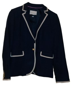 Banana Republic Academy Style Gold Buttons Navy Blue Blazer