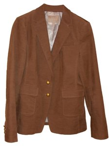 Banana Republic Tan Brown Gold Buttons Tan/Brown Blazer