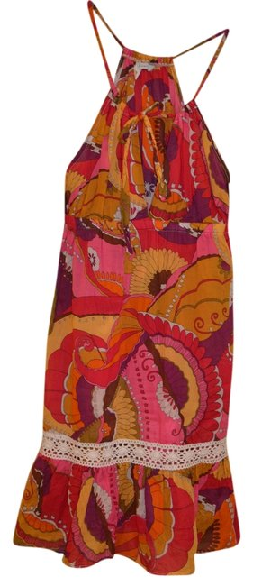 Trina Turk short dress Multi Floral Beach Cover Up Cover Up Lace Drawstring on Tradesy