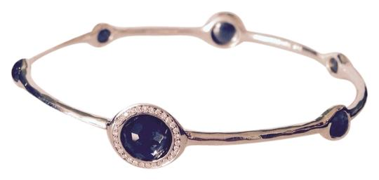 Ippolita Lollipop Sterling Silver Hematite & Diamonds Bangle