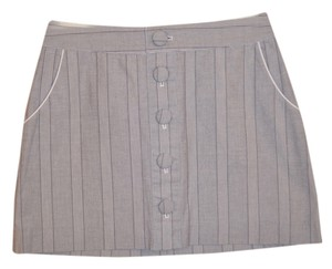 Banana Republic Buttons Pockets Striped Mini Skirt Blue