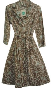 Boden short dress brown Retro Stretchy Flare on Tradesy