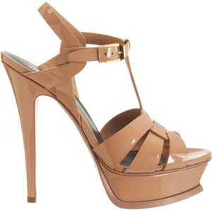 Saint Laurent Tribute Ysl Yves Heels Platform Sky High Nude Sandals