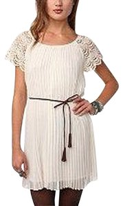 Pins and Needles short dress Creme / Off White on Tradesy