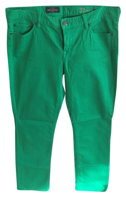 Item - Green Light Wash Matchstick Straight Leg Jeans Size 32 (8, M)