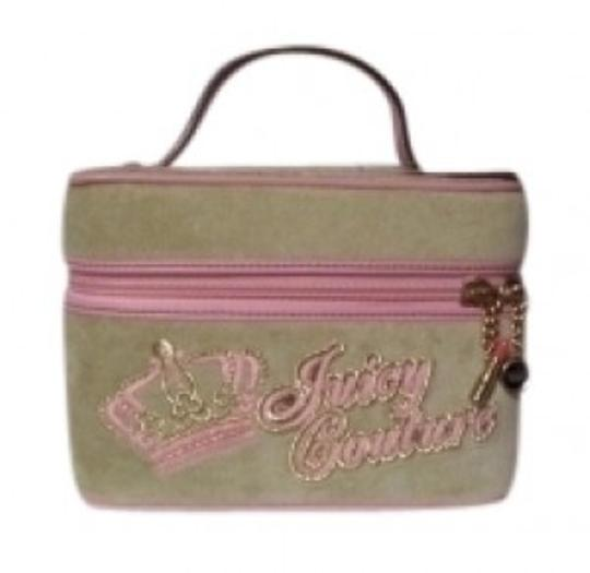 Preload https://item1.tradesy.com/images/juicy-couture-mini-train-case-cosmetic-light-green-and-pink-velour-leather-weekendtravel-bag-32945-0-0.jpg?width=440&height=440