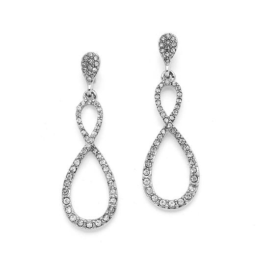 Mariell Silver Prom Crystal Infinity 4250e Earrings