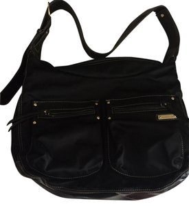 Stork Sak Changing Black Diaper Bag