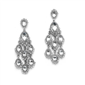 Mariell Dazzling Prom Or Homecoming Chandelier Earrings 4255e