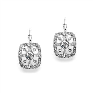Mariell Silver Deco Earrings