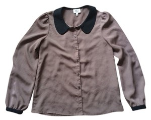 Frenchi Button Down Shirt Brown