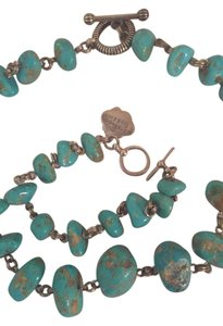 Stephen Yearick Turquoise Necklace, Earrings, And Bracelet
