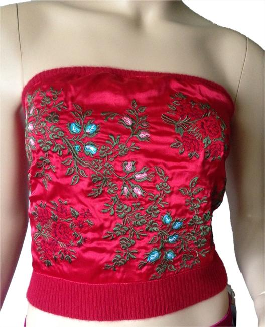Preload https://img-static.tradesy.com/item/3295273/cynthia-rowley-embroidery-strapless-red-top-0-0-650-650.jpg