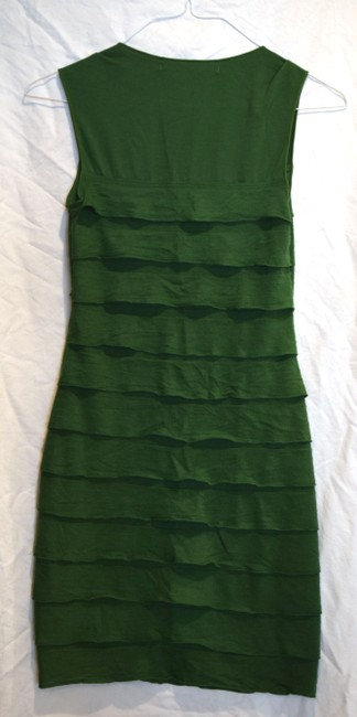 Max Studio short dress Green Figure Fitting Unique Knee Length Comfortable Sundress Sexy Cute Sale on Tradesy
