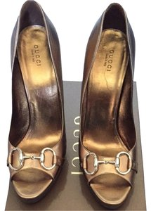 Gucci Bronze Pumps