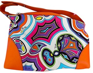 Emilio Pucci Satchel in Multi Color/Orange