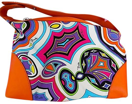 Preload https://item5.tradesy.com/images/emilio-pucci-abstract-signature-print-multi-colororange-cottonleather-satchel-3295474-0-0.jpg?width=440&height=440