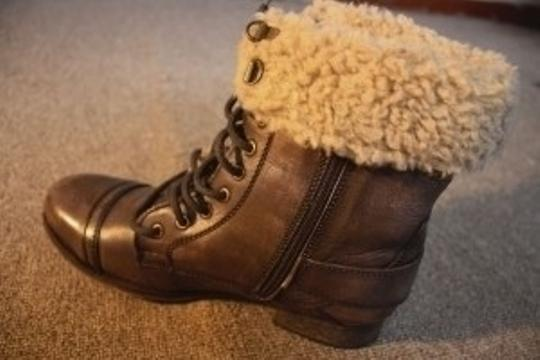 Diba Miss You 400420 Leather Upper Man Made Sole Brown Boots