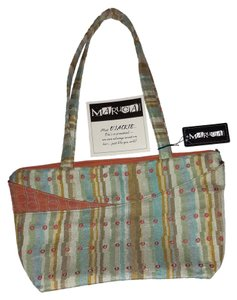 Maruca Jacquard Woven Multiple Pockets Brand New Satchel in olive green and copper orange tones