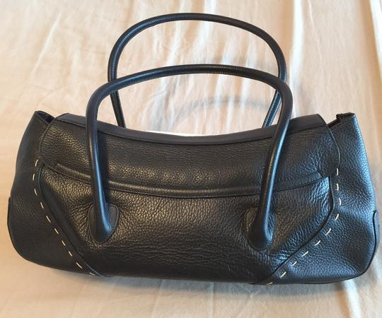 Escada Leather Stitched Buckle Handle Vintage Shoulder Bag