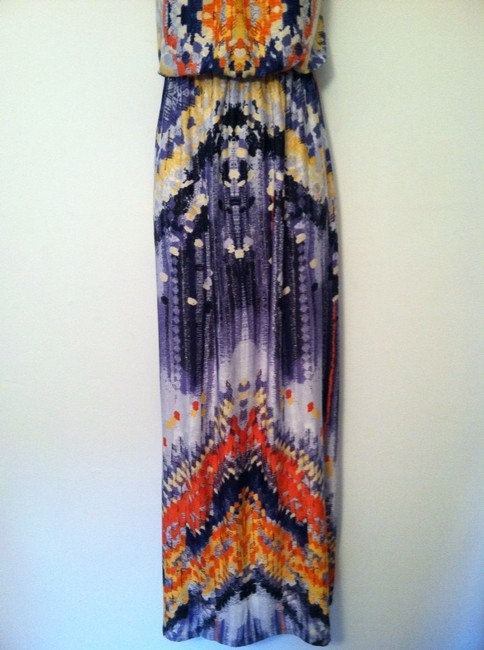 Blue,Orange, & Yellow Maxi Dress by bailey blue