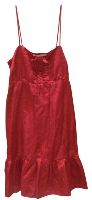 Heritage 1981 short dress Red Decorative Buttons Spaghetti Strap on Tradesy
