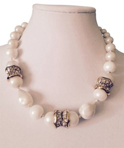 Alexis Bittar Massive Haute Couture Glass Baroque Pearl Crystal Runway Necklace