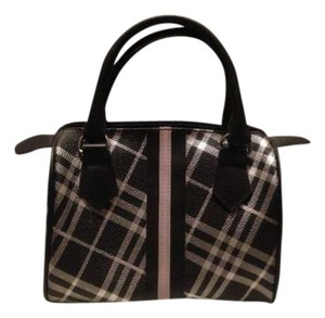 Other Speedy Handbag Mini Speedy Plaid Check Silver Black Tote