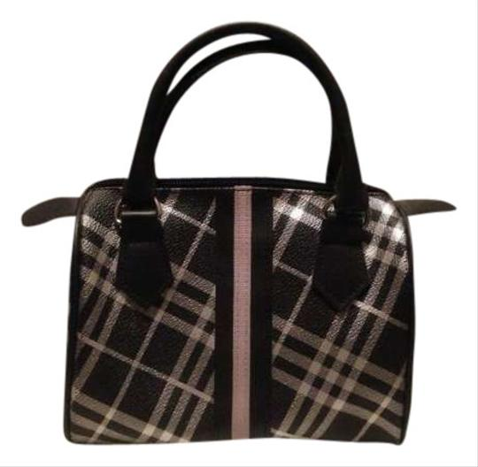 Other Speedy Handbag Purse Mini Speedy Plaid Check Silver Black Tote