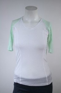 Lululemon Lululemon Puri-tee Burnout White Fresh Teal