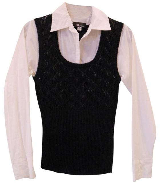 Preload https://item1.tradesy.com/images/ab-studio-blackwhite-vest-with-attached-blouse-sweaterpullover-size-8-m-32975-0-0.jpg?width=400&height=650