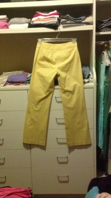 inc stretch Wide Leg Pants Yellow