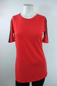 Lululemon Lululemon Red Gray Cotton Color Block Running Short Sleeved T-shirt