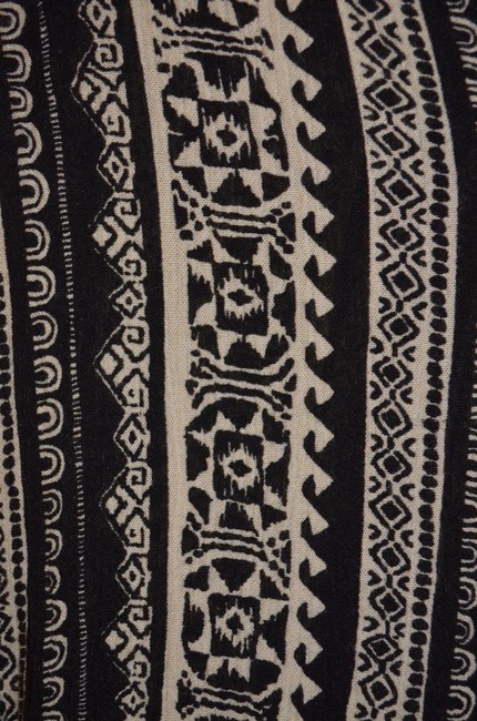 Final Touch Ikat Longsleeve Top Black and White