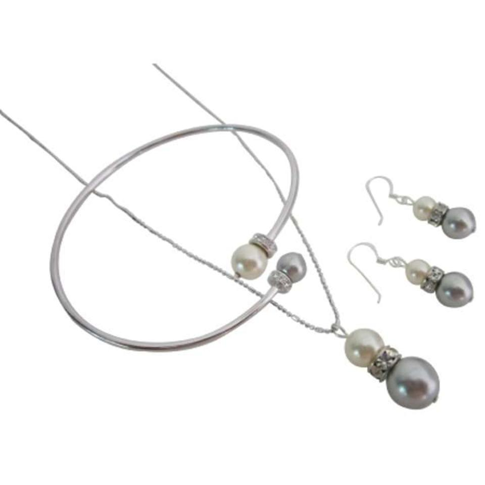 tradesy i silver w elegant grey set cream combo jewelry jewellery inexpensive