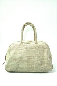 Libra Leather Ivory Satchel in Beige