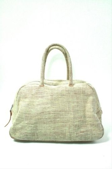 Other Libra Ivory Fabric Nylon Lined Hand Satchel in Beige