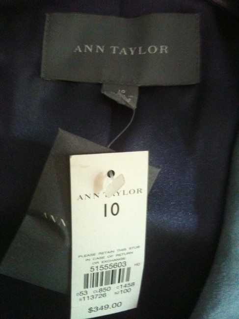 Ann Taylor Suede Dusty blue Leather Jacket