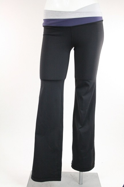 Lululemon Lululemon Black Yoga Pants Leggings Gray Purple Waistband