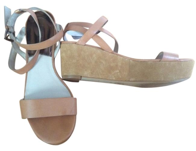 Item - Nude Strappy Wedges Size US 9.5 Regular (M, B)