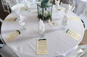 Teal Lantern Centerpiece