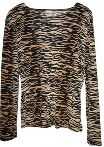 Tapemeasure Long Sleeve Print Top zebra pattern