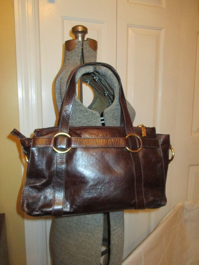 Sharif Leather Tote in brown