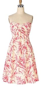 Anthropologie short dress Pink Anthro Strapless on Tradesy