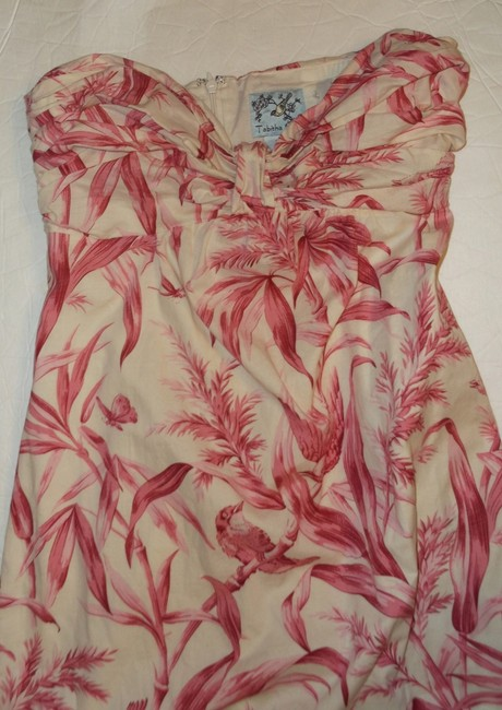 Anthropologie short dress Pink Anthro Strapless Sundress on Tradesy