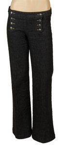 Theory Trouser/Wide Leg Jeans-Dark Rinse